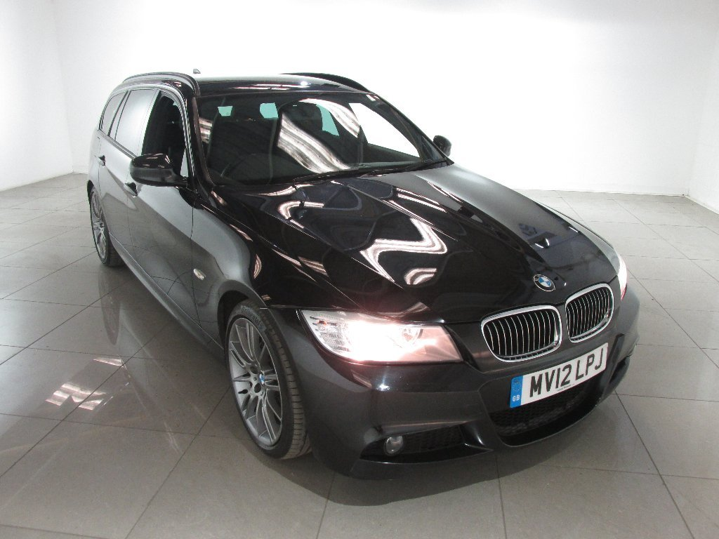 USED 2012 12 BMW 3 SERIES 2.0 320d Sport Plus Touring 5dr Full Black Leather Interior