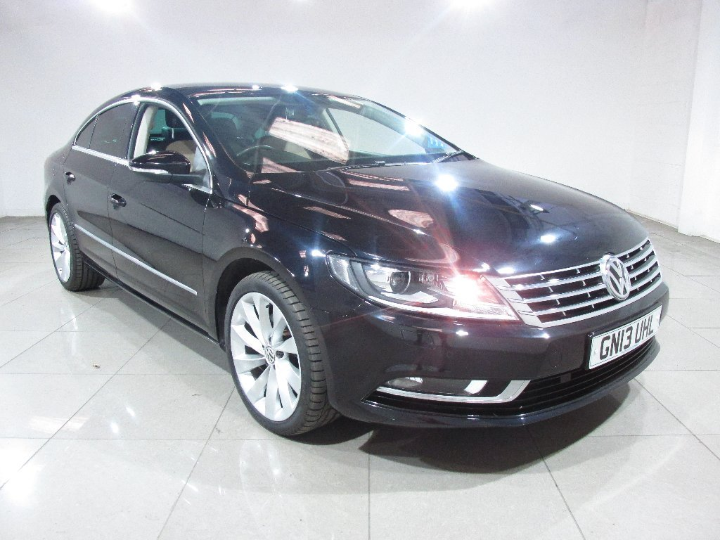 USED 2013 13 VOLKSWAGEN CC 2.0 TDI BlueMotion Tech GT DSG 4dr Sat Nav / Leather / Bluetooth