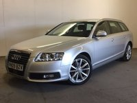 USED 2009 09 AUDI A6 2.0 TDI SE 5d AUTO 134 BHP SAT NAV LEATHER PDC ONE OWNER FSH SATELLITE NAVIGATION. STUNNING SILVER MET WITH FULL BLACK LEATHER TRIM. ELECTRIC HEATED SEATS. CRUISE CONTROL. 18 INCH ALLOYS. COLOUR CODED TRIMS. PARKING SENSORS. ELECTRIC TAILGATE. BLUETOOTH PREP. CLIMATE CONTROL. BOSE SOUND SYSTEM. PADDLESHIFT AUTO. MFSW. MOT 06/18. ONE OWNER FROM NEW. FULL DEALER SERVICE HISTORY. DOCUMENTED CAMBELT CHANGE. PRISTINE CONDITION. FCA FINANCE APPROVED DEALER. TEL 01937 849492