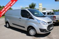 USED 2014 64 FORD TRANSIT CUSTOM 2.2 290 TREND LR P/V 1d 125 BHP One Owner, Long Wheel Base, Sensible Mileage, Finance Arranged.