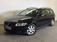 USED 2010 10 VOLVO V50 1.6 D DRIVE S 5d 109 BHP AIR CON ALLOYS  £20 YEAR ROAD TAX. 72 MPG. STUNNING BLACK MET WITH CONTRASTING GREY CLOTH TRIM. 16 INCH ALLOYS. COLOUR CODED TRIMS. CLIMATE CONTROL. R/CD PLAYER. MFSW. MOT 03/18. SERVICE HISTORY. PRISTINE CONDITION. FCA FINANCE APPROVED DEALER. TEL 01937 849492