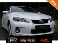 USED 2012 12 LEXUS CT 1.8 200H SE-L 5d AUTO 136 BHP A HUGE SPECIFICATION CAR WHICH COMES WITH A FULL HISTORY AND FINISHED IN PEARL WHITE!!!