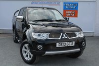 USED 2013 13 MITSUBISHI L200 2.5 DI-D 4X4 BARBARIAN LB DCB 1d 175 BHP L200 BARBARIAN WITH FULL LEATHER UPHOLSTERY, NAV + AIR CON READY FOR WORK OR PLAY