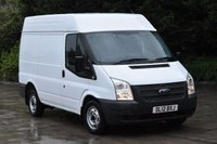 USED 2012 12 FORD TRANSIT 2.2 260 5d 99 BHP SWB M/ROOF FWD EURO 5 DIESEL PANEL MANUAL VAN ONE OWNER FULL/SH SPARE KEY