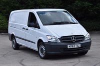 USED 2013 63 MERCEDES-BENZ VITO 2.1 113 CDI 6d 136 BHP LWB FWD EURO 5 DIESEL PANEL MANUAL VAN ONE OWNER SERVICE HISTORY