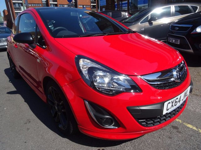 2014 64 VAUXHALL CORSA 1.2 LIMITED EDITION 3d 83 BHP FLAME RED/CARBON CLOTH