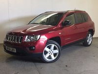 USED 2011 61 JEEP COMPASS 2.1 CRD LIMITED 2WD 5d 134 BHP LEATHER PRIVACY PDC STUNNING RED MET WITH FULL BLACK LEATHER TRIM. ELECTRIC HEATED SEATS. CRUISE CONTROL. 18 INCH ALLOYS. COLOUR CODED TRIMS. PRIVACY GLASS. CLIMATE CONTROL. TRIP COMPUTER. R/CD PLAYER. MFSW. MOT 06/18. FULL PRISTINE CONDITION. FCA FINANCE APPROVED DEALER. TEL 01937 849492.