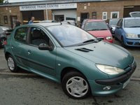 USED 2003 03 PEUGEOT 206 1.4 LX 5d 74 BHP GREAT VALUE+NEW MOT ON SALE