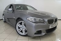 USED 2012 62 BMW 5 SERIES 2.0 520D M SPORT 4DR 181 BHP SERVICE HISTORY + HEATED LEATHER SEATS + SAT NAVIGATION + PARKING SENSORS + M SPORT PACKAGE + BLUETOOTH + 18 INCH ALLOY WHEELS