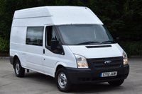 USED 2012 12 FORD TRANSIT 2.2 350 H/R DCB 5d 124 BHP EURO 5 RWD 6 SEATER COMBI CREW WINDOW DIESEL VAN ONE OWNER FULL S/H  SPARE KEY
