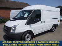 2011 FORD TRANSIT 280 SWB MEDIUM ROOF WITH AIR-CON FROM VIRGIN MEDIA £7000.00