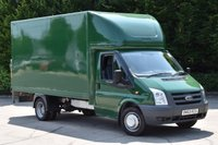 USED 2010 60 FORD TRANSIT 2.4 350 E/F DRW 2d 100 BHP LWB RWD WITH TAIL LIFT DIESEL LUTON VAN TWO OWNERS, S/  HISTORY