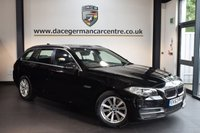 USED 2014 63 BMW 5 SERIES 2.0 520D SE TOURING 5DR AUTO 181 BHP + FULL BLACK LEATHER INTERIOR + 1 OWNER FROM NEW + EXCELLENT SERVICE HISTORY + BUSINESS SATELLITE NAVIGTAION + BLUETOOTH + HEATED SEATS + DAB RADIO  + CRUISE CONTROL + PARKING SENSORS + 17 INCH ALLLOY WHEELS +