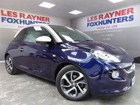 USED 2014 14 VAUXHALL ADAM 1.2 JAM 3d 69 BHP Full Service History , 1 owner from new , DAB radio