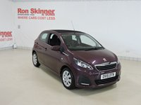 USED 2015 15 PEUGEOT 108 1.0 ACTIVE TOP 5d 68 BHP