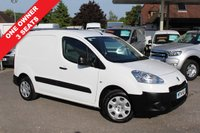 USED 2014 14 PEUGEOT PARTNER 1.6 HDI SE L1 625 1d 74 BHP 3 Seater, Low Mileage, One Owner.