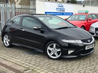 USED 2009 09 HONDA CIVIC 1.8 I-VTEC TYPE S GT 3d 138 BHP PRICE INCLUDES A 6 MONTH RAC WARRANTY, 1 YEARS MOT WITH A OIL & FILTERS SERVICE AND 12 MONTHS FREE BREAKDOWN COVER