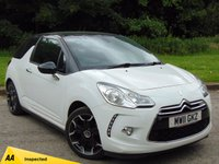 USED 2011 11 CITROEN DS3 1.6 DSTYLE PLUS 3d  FULL MAIN DEALER SERVICE HISTORY & 128 POINT AA INSPECTED