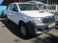 2014 TOYOTA HI-LUX 2.5 D-4D ACTIVE Double Cab 4x4 Pick up *AIR CON*ONLY 36k* £11995.00