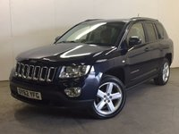 USED 2012 62 JEEP COMPASS 2.1 CRD LIMITED 4WD 5d 161 BHP SAT NAV LEATHER PRIVACY   4WD. SATELLITE NAVIGATION. STUNNING BLUE MET WITH FULL BLACK LEATHER TRIM. ELECTRIC HEATED SEATS. CRUISE CONTROL. 18 INCH ALLOYS. COLOUR CODED TRIMS. PARKING SENSORS. BLUETOOTH PREP. CLIMATE CONTROL. TRIP COMPUTER. 6 SPEED MANUAL. R/CD PLAYER. MFSW. TOWBAR. MOT 06/18. PRISTINE CONDITION. FCA FINANCE APPROVED DEALER. TEL 01937 849492.