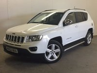 USED 2012 62 JEEP COMPASS 2.1 CRD LIMITED 4WD 5d 161 BHP LEATHER SIDE BARS PRIVACY 4WD. STUNNING WHITE WITH FULL BLACK LEATHER TRIM. ELECTRIC HEATED SEATS. CRUISE CONTROL. SIDE BARS. 18 INCH ALLOYS. COLOUR CODED TRIMS. PRIVACY GLASS. BLUETOOTH PREP. CLIMATE CONTROL. TRIP COMPUTER. 6 SPEED MANUAL. R/CD PLAYER. MFSW. MOT 02/18. PRISTINE CONDITION. FCA FINANCE APPROVED DEALER. TEL 01937 849492.