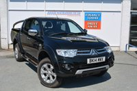USED 2014 14 MITSUBISHI L200 2.5 DI-D 4X4 BARBARIAN LB DCB 1d 175 BHP TOP SPEC BARBARIAN WITH LEATHER, NAV + ROLL N LOCK REAR COVER