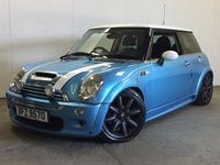 USED 2003 53 MINI HATCH COOPER 1.6 COOPER S 3d 161 BHP BODYKIT SUNROOF LEATHER CRUISE ALLOYS BODYKIT. SUNROOF. STUNNING BLUE MET WITH PART BLACK LEATHER TRIM. CRUISE CONTROL. 17 INCH ALLOYS. COLOUR CODED TRIMS. TINTED GLASS. BLUETOOTH PREP. AIR CON. R/CD PLAYER. MFSW. MOT 08/17. AGE/MILEAGE RELATED SALE. TEL 01937 849492