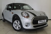 USED 2014 14 MINI HATCH COOPER 1.5 COOPER 3DR PEPPER PACK 134 BHP AIR CONDITIONING + 0% FINANCE AVAILABLE T&C'S APPLY + BLUETOOTH + AUXILIARY PORT + RADIO/CD + ALLOY WHEELS