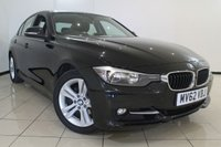 USED 2012 62 BMW 3 SERIES 2.0 320I SPORT 4DR AUTOMATIC 181 BHP CLIMATE CONTROL + 0% FINANCE AVAILABLE T&C'S APPLY + PARKING SENSORS + BLUETOOTH + CRUISE CONTROL + MULTI FUNCTION WHEELS