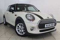 USED 2014 14 MINI HATCH COOPER 1.5 COOPER 3DR 134 BHP BMW SERVICE HISTORY + 0% FINANCE AVAILABLE T&C'S APPLY + AIR CONDITIONING + BLUETOOTH + DAB RADIO + ELECTRIC WINDOWS + ALLOY WHEELS