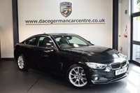 USED 2014 14 BMW 4 SERIES 2.0 428I LUXURY 2DR 242 BHP + FULL BLACK LEATHER INTERIOR + FULL BMW SERVICE HISTORY + 1 OWNER FROM NEW + BUSINESS SATELLITE NAVIGATION + BLUETOOTH + HEATED SPORT SEATS WITH MEMORY + XENON LIGHTS + CLIMATE CONTROL + HIFI SPEAKER SYSTEM + DAB RADIO + PARKING SENSORS + 18 INCH ALLOY WHEELS +