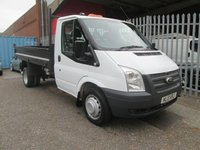 2013 FORD TRANSIT 350 2.2 TDCi 100 PS Single Cab Steel Tipper *Only 54000 miles* £SOLD