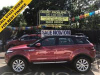 USED 2014 14 LAND ROVER RANGE ROVER EVOQUE 2.2 SD4 PURE TECH 5d 190 BHP STUNNING FIRENZE RED METALLIC WITH BLACK ROOF. FULL HEATED BLACK LEATHER UPHOLSTERY. ONLY OWNER WILL FULL LAND ROVER HISTORY LAST ONE CARRIED OUT FEB 2017. FULL PANORAMIC ROOF. SAT NAV.