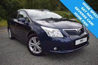 USED 2009 58 TOYOTA AVENSIS 2.0 T4 D-4D 5d 125 BHP 11 STAMP FSH! CREAM LEATHER INTERIOR AND SATELLITE NAVIGATION! FANTASTIC SPEC ESTATE CAR!