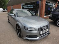 USED 2011 11 AUDI A4 2.0 TFSI QUATTRO DYNAMIK 4d 208 BHP VERY RARE ONLY 49000 MILES IN GREY APPROVED CARS ARE PLEASED TO OFFER THIS  AUDI A4 2.0 TFSI QUATTRO DYNAMIK 4 DOOR 208 BHP WHICH IS VERY RARE WITH ONLY 49000 MILES FROM NEW IN GREY WITH A FULL AUDI SERVICE HISTORY SERVICED 13K,16K,23K,40K AND 48K A STUNNING VERY RARE CAR WITH A GREAT SPEC INCLUDING SAT NAV,BLUETOOTH,PARKING SENSORS FRONT AND REAR,FULL LEATHER INTERIOR,AUTO LIGHTS AND ZENON LIGHTS.