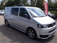 USED 2012 12 VOLKSWAGEN TRANSPORTER 2.0 T32 TDI SPORTLINE KOMBI 1d AUTO 177 BHP 1 OWNER, FULL MAIN DEALER SERVICE HISTORY, STUNNING EXAMPLE THROUGHOUT, EXCELLENT SPEC,  DRIVES SUPERBLY, NO VAT !!!!!!!!
