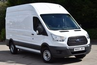 USED 2014 64 FORD TRANSIT 2.2 350 H/R P/V 5d 124 BHP LWB L3 H3 EURO 5 DIESEL MANUAL VAN ONE OWNER F/SH SPARE KEY