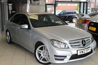 USED 2012 12 MERCEDES-BENZ C CLASS 3.0 C350 CDI BLUEEFFICIENCY AMG SPORT 4d AUTO 262 BHP FULL BLACK LEATHER SEATS + FULL MERCEDES BENZ SERVICE HISTORY + COMMAND SYSTEM + BLUETOOTH + CRUISE CONTROL + HEATED SEATS + 18 INCH ALLOYS + PARKING SENSORS