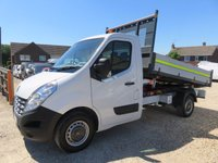 USED 2014 64 RENAULT MASTER 2.3 ML35 DCI TIPPER 125 BHP REAR WHEEL DRIVE 14,872 MILES