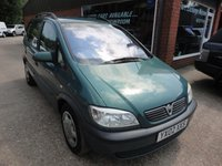 USED 2002 02 VAUXHALL ZAFIRA 1.6 COMFORT 16V 5 DOOR 99 BHP ONLY 90000 MILES IN MET GREEN WITH MOT UNTIL NOV 2017 APPROVED CARS ARE PLEASED TO OFFER THIS VAUXHALL ZAFIRA 1.6 COMFORT 16V 5 DOOR 99 BHP ONLY 93000 MILES IN MET GREEN WITH A LONG MOT,7 SEATS AND IN GOOD CONDITION BUT DUE TO ITS AGE AND MILEAGE IS BEING OFFERED ON A TRADE CLEARANCE BASIC.