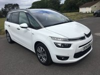 USED 2014 14 CITROEN C4 PICASSO 1.6 GRAND E-HDI AIRDREAM EXCLUSIVE PLUS ETG6 5d AUTO 113 BHP TOP SPEC AUTOMATIC ONE OWNER CAR WITH FSH