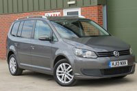 USED 2013 13 VOLKSWAGEN TOURAN 2.0 SE TDI BLUEMOTION TECHNOLOGY 5d 138 BHP 7 SEATS, DAB RADIO, BLUETOOTH, FINANCE AVAILABLE