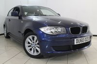 USED 2010 60 BMW 1 SERIES 2.0 118D ES 3DR AUTOMATIC 141 BHP BMW SERVICE HISTORY + 0% FINANCE AVAILABLE T&C'S APPLY + AIR CONDITIONING + PARKING SENSORS + RAIN SENSOR + RADIO/CD + 16 INCH ALLOY WHEELS