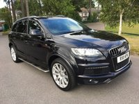 USED 2011 11 AUDI Q7 3.0 TDI QUATTRO S LINE 5d AUTO 240 BHP GREAT SPEC LOW MILEAGE Q7 S LINE WITH FSH IN BLACK WITH FULL BLACK LEATHER