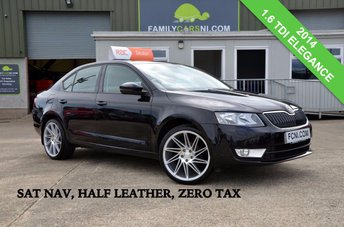 2014 SKODA OCTAVIA 1.6 ELEGANCE TDI CR *SAT NAV,HALF LEATHER,PARKING SENSORS* £10450.00