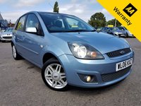 USED 2006 06 FORD FIESTA 1.4 GHIA 16V 5d 80 BHP!p/x welcome! 48k MILES! FULL LEATHER! FULL SERVICE HISTORY! AIR-CON! NEW MOT & SERVICE! 48k MILES! FULL LEATHER! FULL SERVICE HISTORY! LOW MILES! NEW MOT & SERVICE! TOP SPEC!