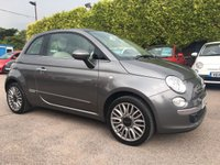 USED 2015 65 FIAT 500 1.2 LOUNGE 3d  LOW MILEAGE AND FIAT WARRANTY  NO DEPOSIT  PCP/HP FINANCE ARRANGED, APPLY HERE NOW