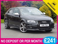 USED 2011 11 AUDI A3 2.0 S3 TFSI QUATTRO S LINE BLACK EDITION 3d 261 BHP XENONS SAT NAV LEATHER BOSE