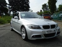 USED 2009 09 BMW 3 SERIES 2.0 318D M SPORT 4d AUTO 141BHP M SPORT FEATURES+BIG ALLOYS+CD