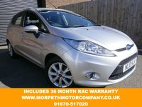 USED 2010 10 FORD FIESTA 1.2 ZETEC 5d 81 BHP 36 MONTH RAC WARRANTY INCLUDED
